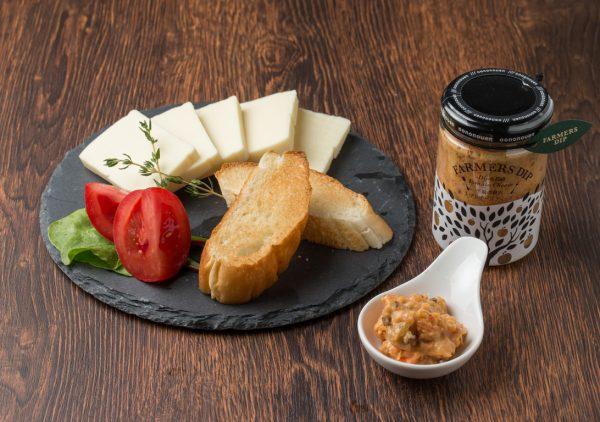 罪悪感少ないヘルシーおつまみ ディップソース チーズ&バゲット|大野農園